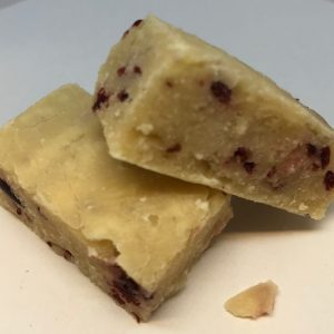 White choc & cranberry